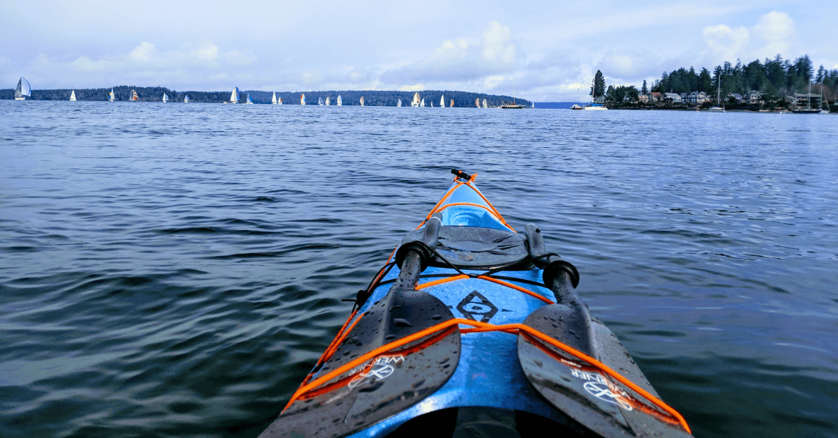Paddling the Puget Sound in a Nigel Foster designed Whiskey 16