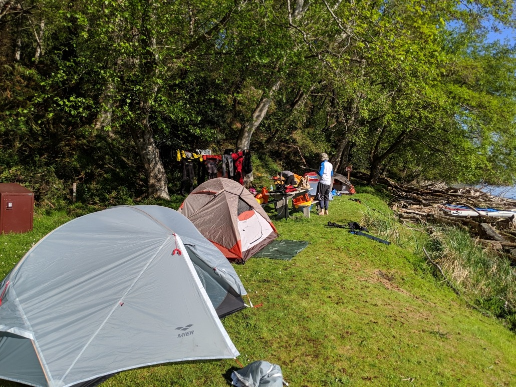 Blake Island campsite for our first overnight leg of the H2O Project