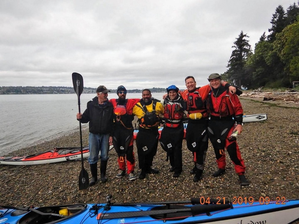Our group prior to launching of Blake Island