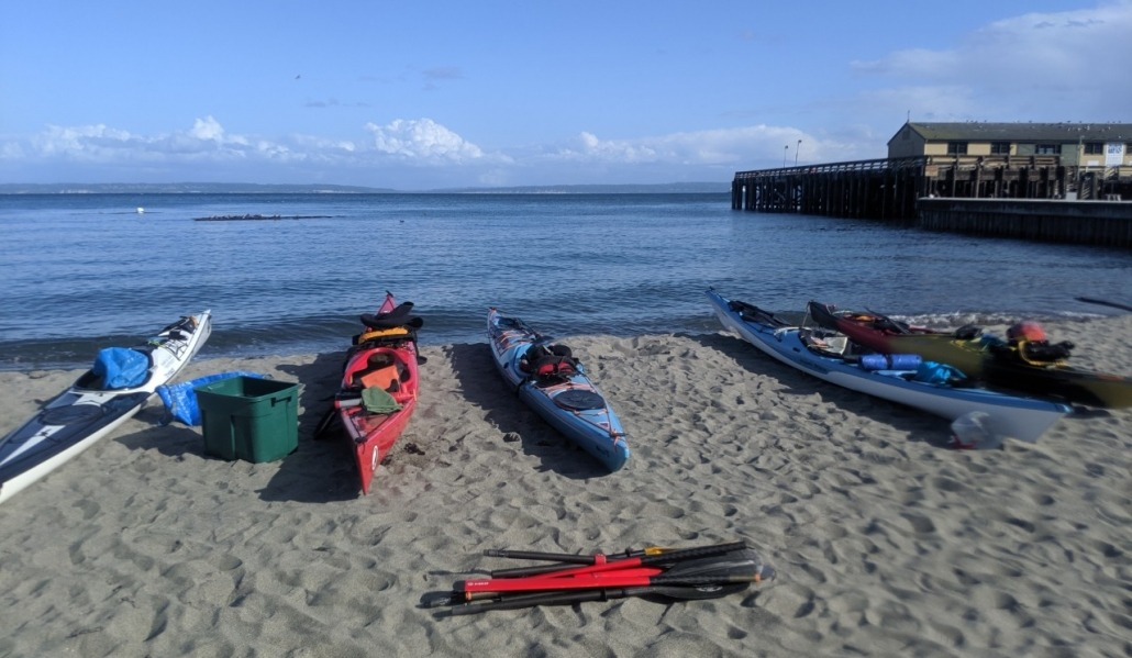 Loading the kayaks at Fort Worden for leg 5 of The H2O Project