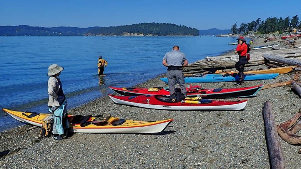 Snee Oosh Point Launch site for the North Sound Sea Kayak Association (NSSKA) trip- photo by Martin Proudfoot