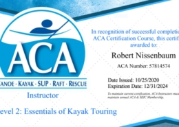 Robert Nissenbaum's ACA L2 EKT Sea Kayak Instructor certification