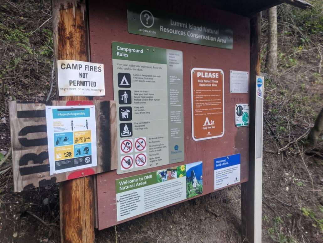 The Washington Water Trails Association campsite on Lummi Island