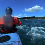 Robert Nissenbaum Sea kayaking through Cattle Pass on a trip from Anacortes to Friday Harbor